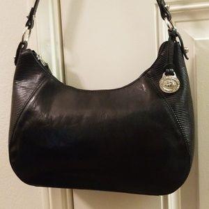 Black Brahmin Structured Hobo Shoulder Bag EUC